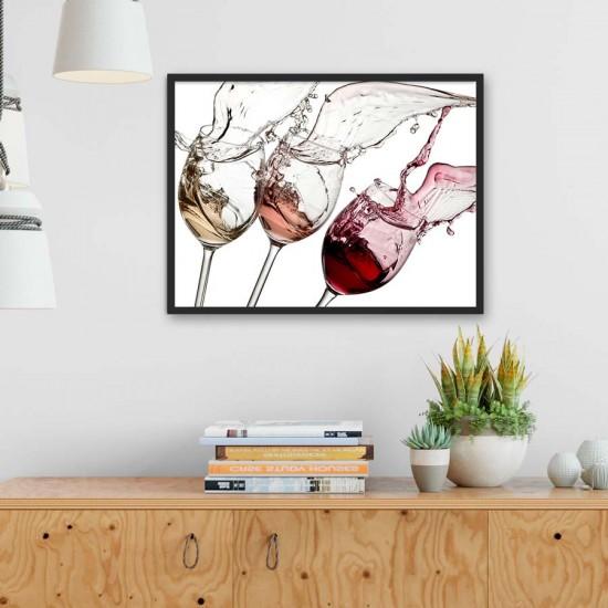 Три цвята вино - фото пано канава или рамка