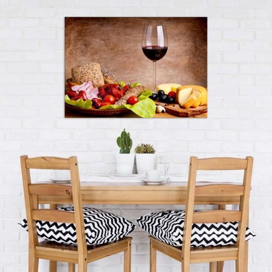 Вино и тапас - фото картина