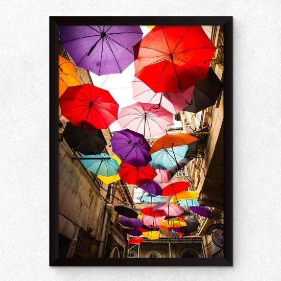 Цветни чадъри - Фото арт