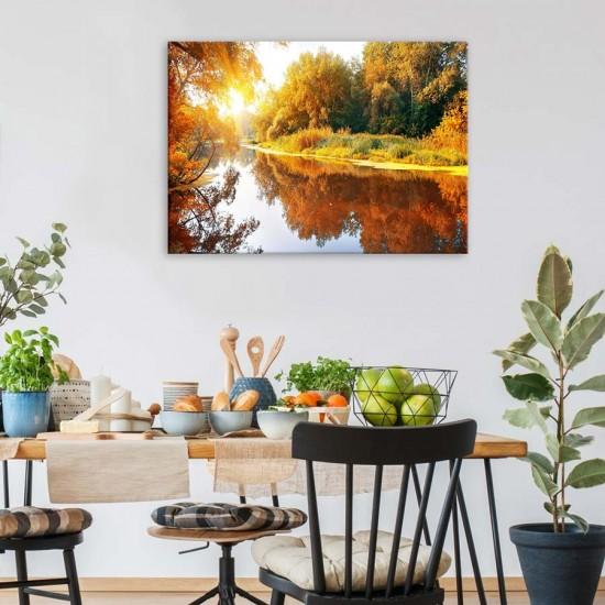 Сезони - Река през есента - фото картина с пейзаж