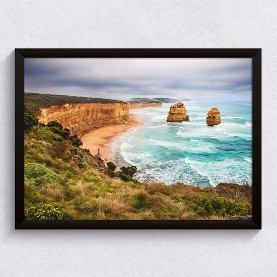 Скалист морски бряг - Фото пано - Картина пейзажна