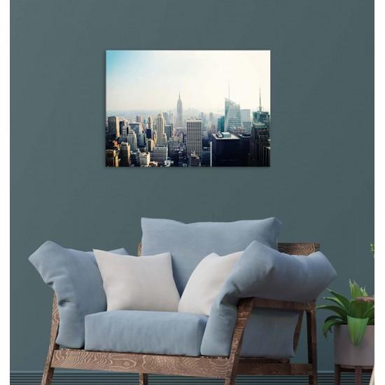 Картина Полет над Ню Йорк - Принт в рамка с гледка