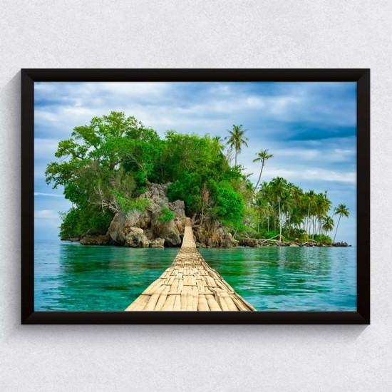 Пътят към острова - Картина в рамка
