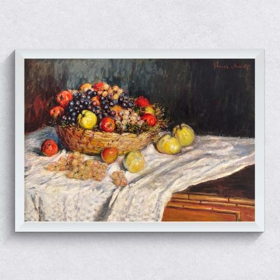 Ябълки и грозде, Клод Моне - Арт пано