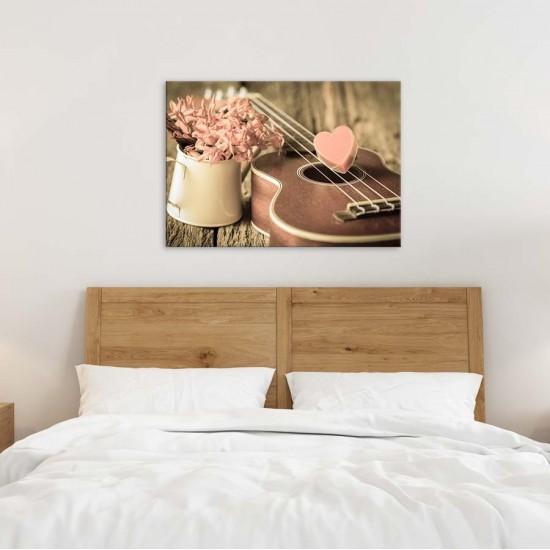 Романс китара и сърца - Фото картин