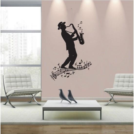 Ах, този джаз - стикер за стена
