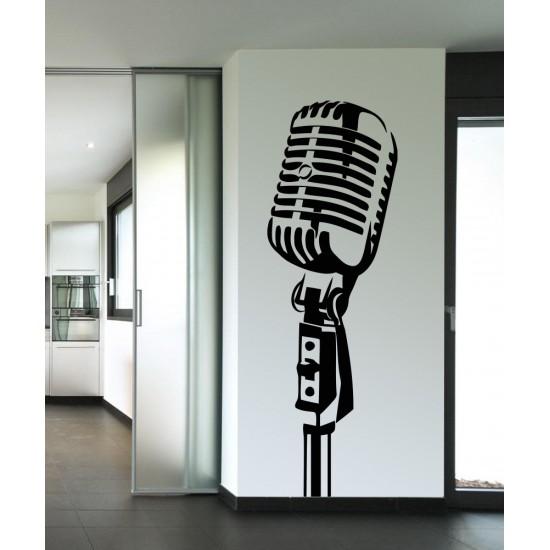 Микрофон за пеене - стикер за стена