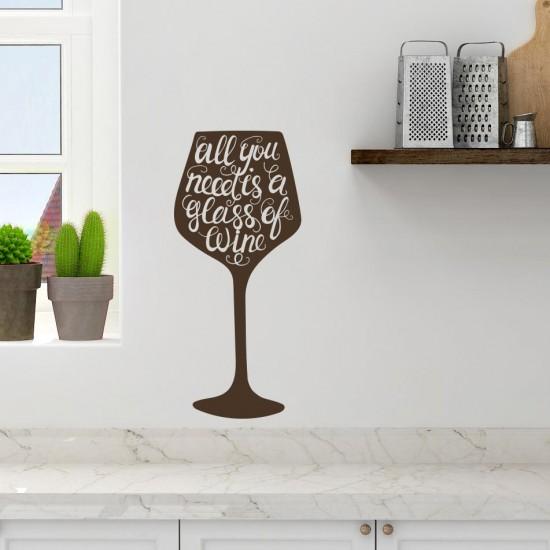 стикер за стена чаша с надпис