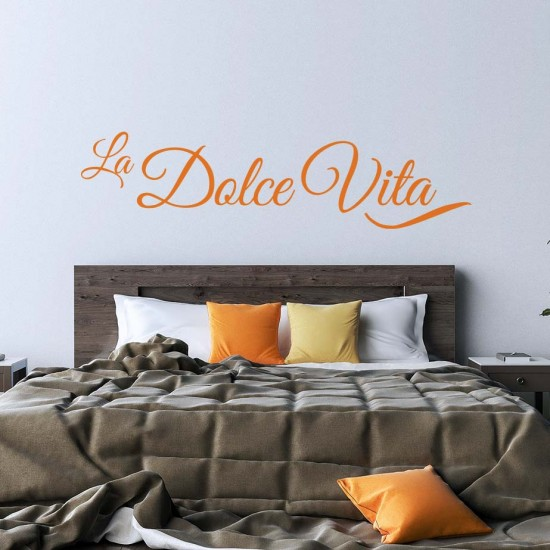 La Dolce Vita - Сладък живот стикер за стена с надпис