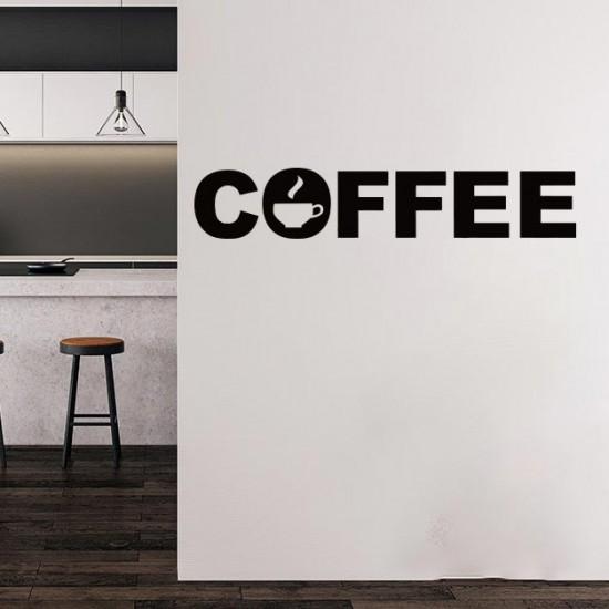 Надпис Кафе - стикер за стена