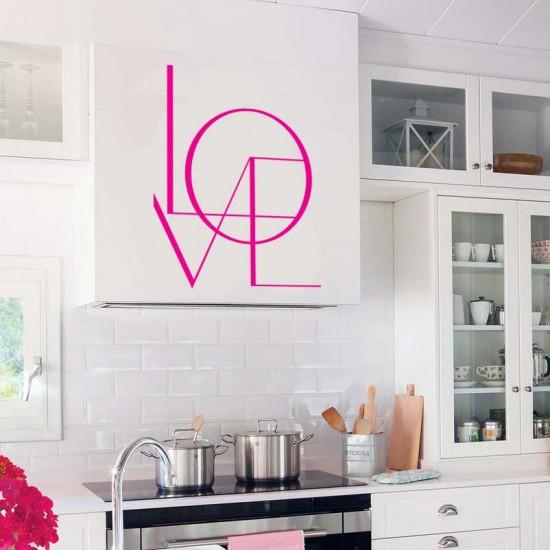 Love надпис за стена