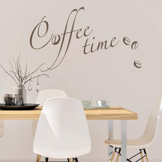 Време за кафе - стикер за стена