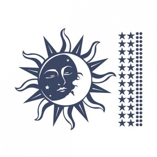 стикер за декорация слънце и луна
