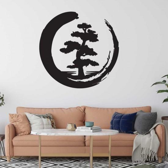 Enso Дръвче - стикер бонзай дърво