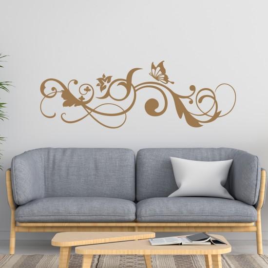 елегантен стикер за секорация на стена с пеперуда