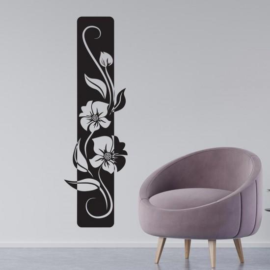 Колона с цветя - стикер за стена
