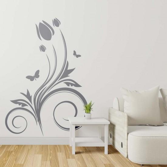 Орнамент с лале и пеперуди