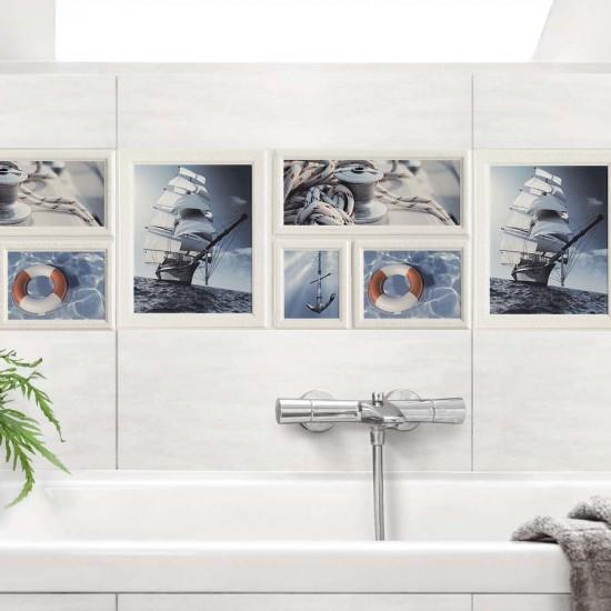 Морско настроение - стикери за плочки