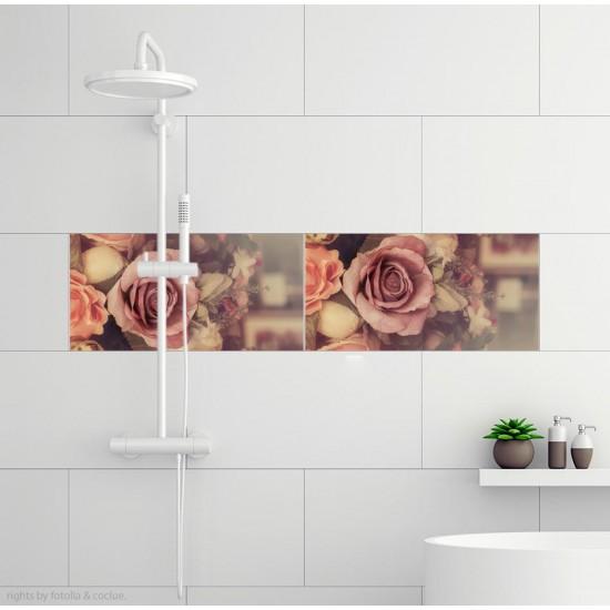 стикери за плочки рози