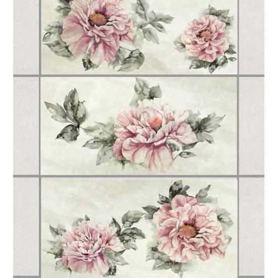 Акварелни рози - лепенки за плочки