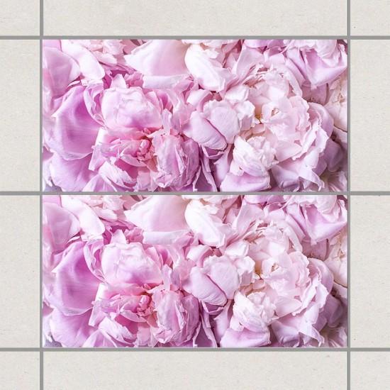 Божури Вог - фото стикери за стена и плочки