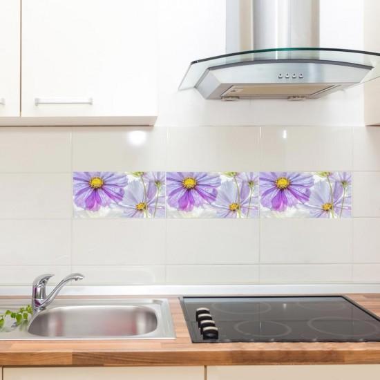 Космос цветя - стикери за плочки